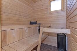 Uudenveroinen sauna.