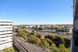 Pohjoisparvekkeelta näkyy kaikki keskustan sillat