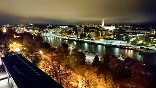 Aurojoki by night