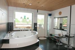Pesuhuone porealtaalla