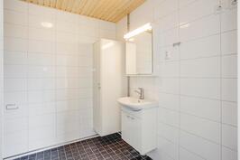 Saunattoman asunnon kylpyhuone