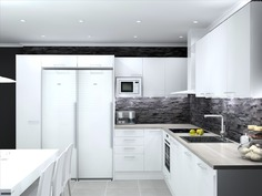 Visualistoitu kuva keittiö vaihtoehto 2