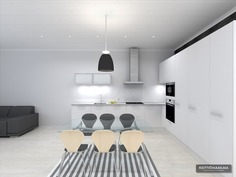 Visualisoitu kuva keittiöstä