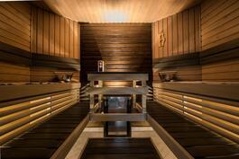Viihtyisä ja tilava sauna
