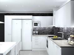 Visualisoitu kuva keittiö, vaihtoehto 1