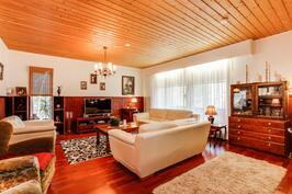 Tyylikäs ja valoisa olohuone