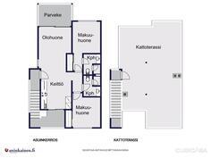 Pohjakuva yläkerran asunnosta