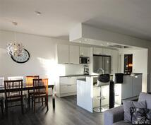 Olohuone ja keittiö sulassa sovussa