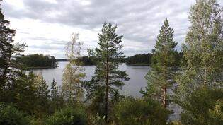 Näkymä parvekkeelta suoraan järvelle