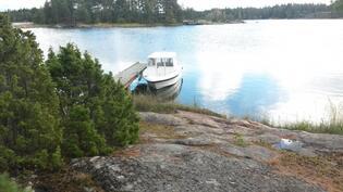 Venelaiturille helppo tulla suojaisen rannan takia.