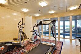 Kuntosalistakin näkyy merelle/ Havsutsikt även från gymmet.
