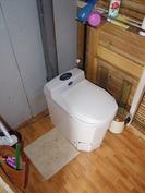 Mökissä käytössä wc