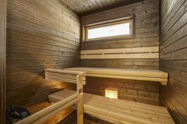 *Ikkunallinen sauna