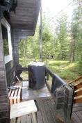 lämminvesi kattila saunan terassilla