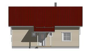 Kastelli-talon mallikuva (suunniteltu talo olisi rapattu)