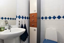 Erillinen wc myös remontoitu v. 1999