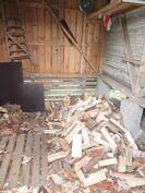 Puuiiteri talousrakennuksessa