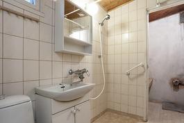 Pesuhuone ja sauna (kiuas poistettu)