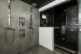 Viimeisen päälle tyylikäs kylpyhuone Unidrain kaivoilla