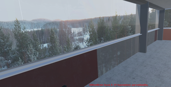 Viitteellinen kuva A19 huoneiston parvekkeelta