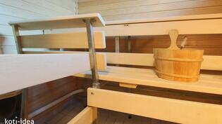 Sauna uusittu 2012