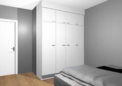 Tulevaa kalustekuvaa makuuhuoneesta (13,7m²)