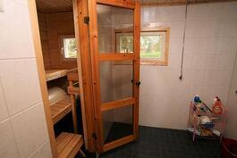 Ikkunalliset kylppäri ja sauna