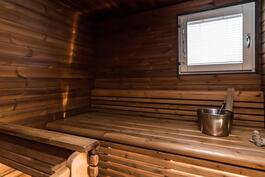 Kaunis sauna.