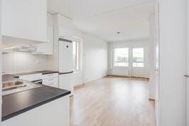 Keittiö-olohuone, kuva asunnosta A37
