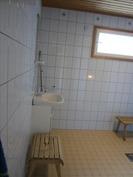 Pesuhuonetilassa myös pukutilaa
