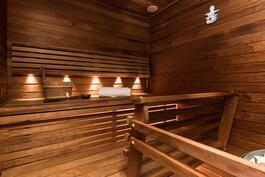 Tunnelmallinen sauna remontoitu todella laadukkaasti.