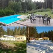 Kesällä uimaan omaan altaaseen ja talvella ......