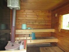 ... mainiosta saunasta, jossa tietenkin puulämmitteinen kiuas!