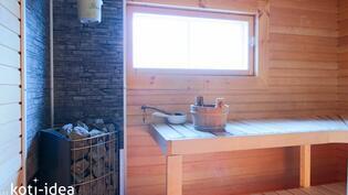 Huvilan sauna