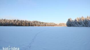 Pitkälampi talvella