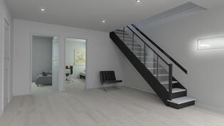 alakerran aula, alakerran huonekorkeus 2,7m