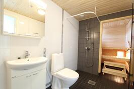 Kaunis, harmooninen sauna/kylpyhuoneosasto