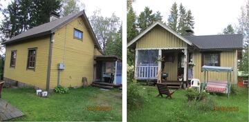 Tontilla kaksi taloa