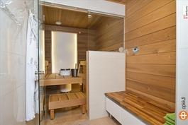 Tähtisaunan suunnittelema saunaosasto!