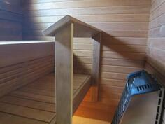 sauna, kuva aiemmin valmistuneesta vastaavanlaisesta isommasta talosta