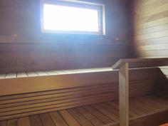 sauna, kuva aiemmin valmistuneesta vastaavanlaisesta talosta