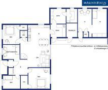 Martikaisentie 8, kohteessa on kaksi eri asuntoa. Sivuasuntona on kaksio.