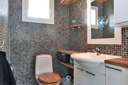 viihtyisä ikkunallinen wc