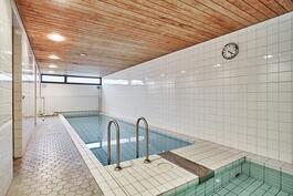Taloyhtiössä on oma uima-allasosasto.