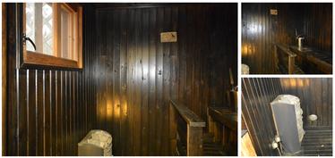 Sauna,kuva kollaasi
