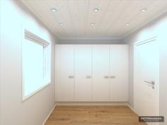 Visualisoitu kuva makuuhuone