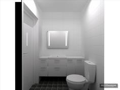 Visualisoitu kuva alakerran vessa
