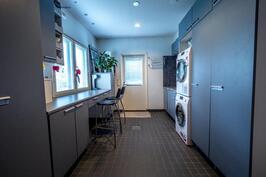"""Kodinhoitohuoneen """"kuraeteinen"""" helpottaa koira- tai lapsiperheen arkea."""