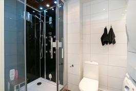 Pesuhuone ja höyrysuihkukaappi