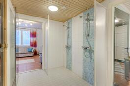 Pesuhuone, takana vierashuone